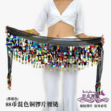 Multi-Colour Sequins Belly Dance Scarf  Coins 11 colors