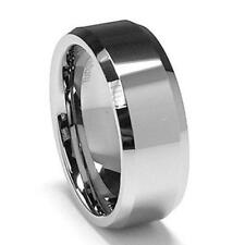 Men Silver Tungsten Carbide Wedding Ring Band 7mm Width