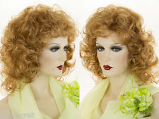 Medium Length Layers and Big Bouncy Curls Blonde Brunette Red Curly Wigs