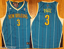 Chris Paul New Orleans Hornets Adidas Teal Blue Swingman Mens Sewn Jersey NWT