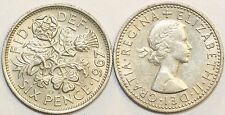 1953 to 1967 Lucky Sixpence Your Choice of Date