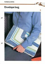 Envelope Bag ~ Tunisian Crochet Purse, Quick 'n Easy Crocheting pattern