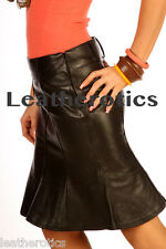 Real leather ladies hobble skirt tight fitted snug wear