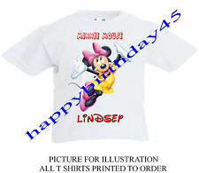 MINNIE MOUSE PERSONALISED KIDS T SHIRT AGE 2 -11