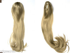28 in  Long Blonde Straight Clip-in-Extencions Hair Pieces