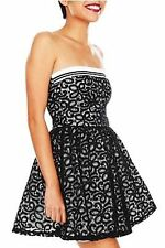 Sweet Love Ivory and Black Lace Overlay Tube Dress NWT