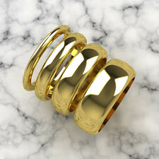 Wedding Rings Ladies/Gents 9 ct Yellow Gold D-Shaped 2mm 4mm 6mm 8mm All Sizes