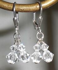 Crystal Clear Multiple Drop Earrings Made with Swarovski Elements 77 Color Picks
