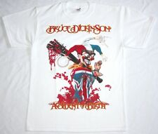 BRUCE DICKINSON ACCIDENT AT BIRTH'97 IRON MAIDEN SAMSON NEW WHITE RARE T-SHIRT