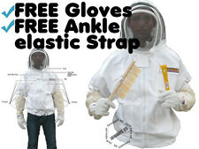 Beekeeping Sheriff Inspector's Bee Jacket w/ Removable Veil FREE Gloves & Strap