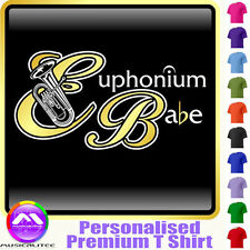 Euphonium Babe - Personalised Music T Shirt 5yrs - 6XL by MusicaliTee