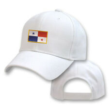 PANAMA WHITE FLAG COUNTRY EMBROIDERY EMBROIDED CAP HAT