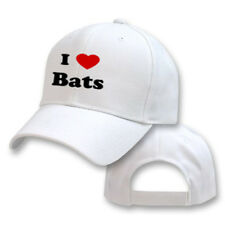 I LOVE BATS ANIMAL BIRD PET CAT DOG EMBROIDERY EMBROIDERED HAT CAP