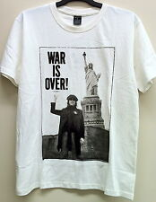 MEN'S WHITE JOHN LENNON 'WAR IS OVER IF YOU WANT IT' COTTON T-SHIRT NEW WITH TAG