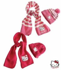 New Girls Hello Kitty Hat & Scarf Set Age 1-9 Years 1st class fast delivery