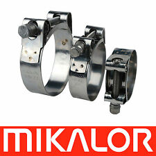 MIKALOR W2 Stainless Supra Heavy Duty Hose Clamp Exhaust Pipe Turbo Clip Jubilee