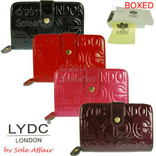 Womens Ladies Boxed LYDC Designer Patent Leather Style Purse Clutch Bag Wallet