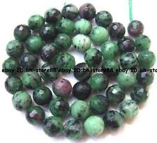 Natural Ruby Zoisite round faceted loose Beads 15'' 4mm 6mm 8mm 10mm 12mm 14mm