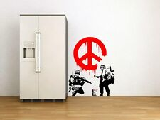 Banksy Graffiti '  CND Peace Sign Soldiers ' Art Wall Decal Vinyl Stickers !