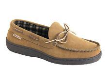 L.B. Evans Men's Moccasin Slipper HideAways Marion Hashbrown FREE SHIPPING