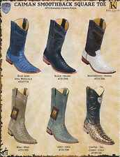 Wild West Square-Toe Caiman Smoothback Mens Cowboy Western Boots Diff.Color/Size