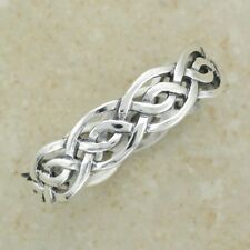 Handsome Irish CELTIC KNOTWORK RING Size 7,8, 9 or 10 - .925 sterling silver