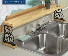 solid wood & iron Kitchen bathroom counter OVER THE SINK Shelf organizer shelves