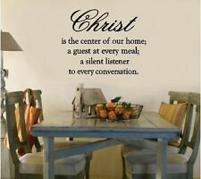 Christ The Center Of Our Home Christian Vinyl Decal Sticker Wall Lettering Words