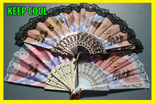 VINTAGE COUNTRY WESTERN SPANISH HAND HELD FANS IDEAL FOR RETRO LINE DANCING