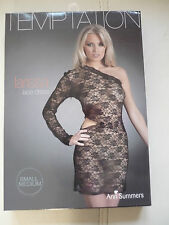 Ladies Sexy Black Lacey Dress X.Ann Summers size S/M