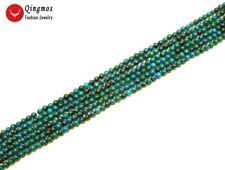 "Tiny 4-4.5mm green High quality Round Chrysocolla beads strands 15"" -los422"