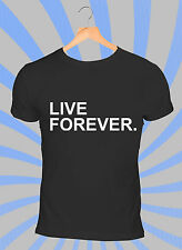 Oasis Live Forever T-Shirt - Liam Gallagher Noel Gallagher