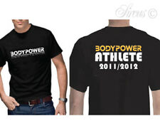 2 FOR £6 CLEARANCE SALE OFFICIAL BODY POWER 2011/12 GYM T-SHIRT BLACK S M L XL+