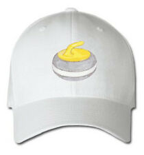 Curling Stone  Sports Sport Design Embroidered Embroidery Hat Cap