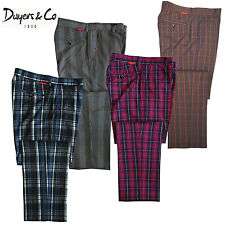 2012 Dwyers & Co Designer Stretch-Tech Check Funky Golf Trousers (DT032)