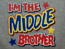 I'm Middle Brother ! FREE SHIP! Tee Cute Sweet Infant Baby Toddler Youth T-Shirt