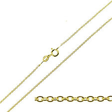 "375  9CT YELLOW GOLD 16 18 20 22 24"" INCH FINE CABLE / TRACE LINK CHAIN NECKLACE"