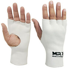 MRX INNER GLOVES FIST PROTECTIVE HAND WRAPS MUAY THAI BOXING MARTIAL ARTS WHITE