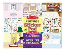 Melissa & Doug Reusable Sticker Pad PLAY HOUSE or DRESS UP 11 x 14- 5 SCENES