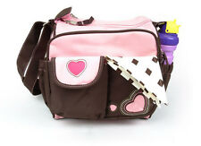 New Multi Function Lovely Heart Design Baby Diaper Tote Shoulder Bag Nappy Bag