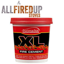 XL buff fire proof heat resistant cement for flue pipes & wood burning stoves