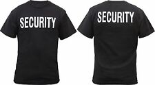 Black Official Issue Security Double Sided Reflective Bouncer T-Shirt