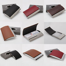Aluminum and Artificial Leather Business ID Credit Name Card Holder Case Wallet