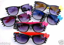 Hello Kitty Sunglasses Black Frame and Whiskers Colored Bows and Arms