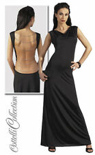 Black Evening Dress with chains