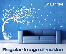 """Wall Decor Decal Sticker Mural Removable Large Wind Tree DC099 70""""H Single Color"""