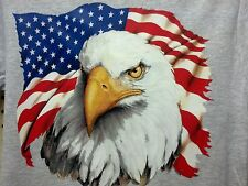 Majestic Eagle & USA Flag S-5X Patriotic America Troops Pride T-Shirt Tee