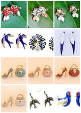 Pretty bag and high heel shoe earrings with crystal multiple choices