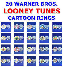 YOU PICK 1 OF 20 RETIRED WARNER BROS LOONEY TUNES ROUND RINGS PARTY FAVORS GIFTS