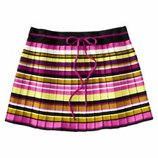 MISSONI for Target Womens Passione PLEATED MINI SWEATER SKIRT Striped Pink Green